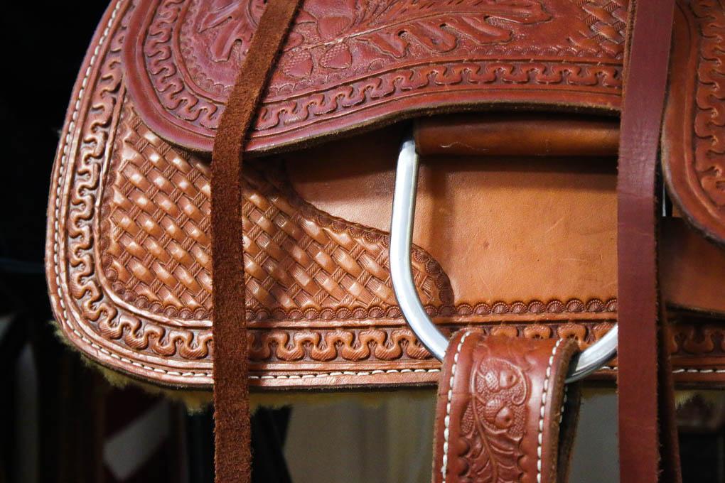 Custom leather saddle by Cashman Custom Leather