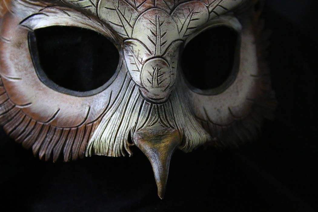 Wade Cashman original leather owl mask