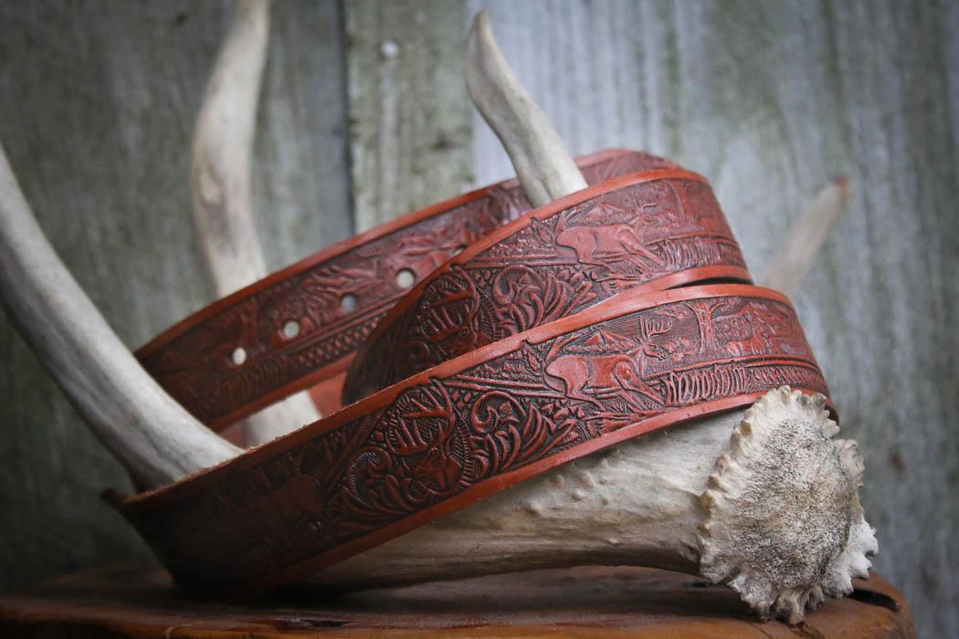 Leather belt by Wade Cashman