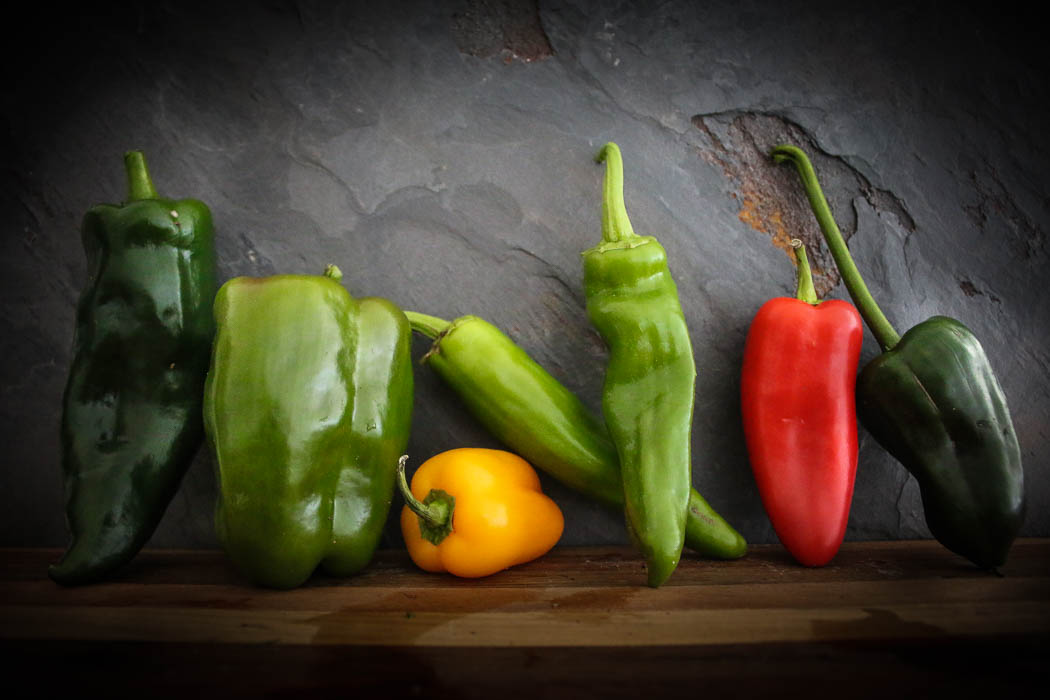 Product photo of peppers for website